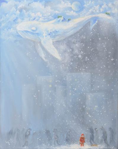 """⭐ """"Китовый снегопад"""" Холст 80*100, масло"""