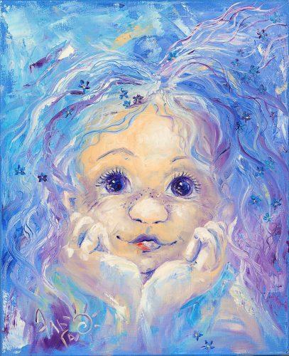 """⭐ """"Голубой портрет"""" Холст 45*55, масло"""